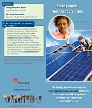 Solar panels... Get the facts. I did. - Entergy New Orleans, Inc.