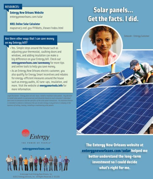 Solar panels    Get the facts  I did  - Entergy New Orleans