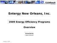 Entergy New Orleans Energy Efficiency Program Overview