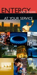 AT YOUR SERVICE - Entergy New Orleans, Inc.