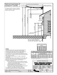 Typical Permanent Overhead (above roof line) - Entergy New ...