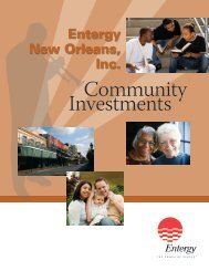 Community Investments - Entergy New Orleans, Inc.