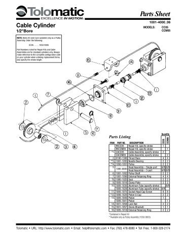 Parts Sheet Caliper Disc Brake H220 Series with Bore