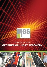 GEOTHERMAL HEAT RECOVERY - MGS