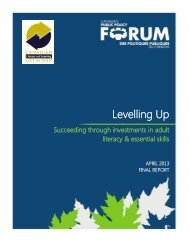 Levelling Up - Public Policy Forum