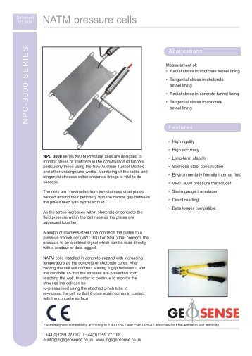 NATM pressure cells - MGS Europe GmbH