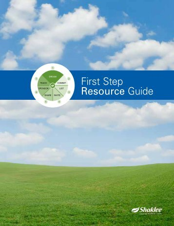 First Step Resource Guide - Shaklee