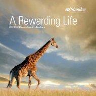 2011/2012 Shaklee Incentive Brochure
