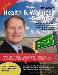 Health and Wellness - Shaklee