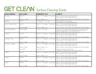 Get Clean Surface Cleaning Guide - Shaklee