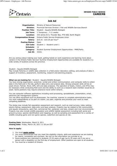 Job Ad Opseu Local 736