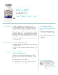 CoQHeart Talk Sheet - Shaklee