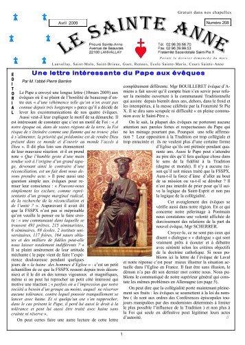Le Sainte-Anne n° 208 d'avril 2009 - La Porte Latine