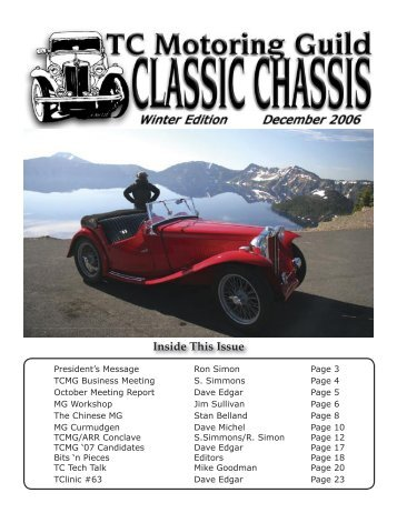 December Classic Chassis - TC Motoring Guild