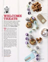 Welcome treats - The Healthy Chef