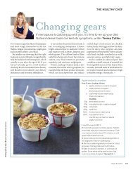Changing gears - The Healthy Chef