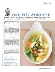 one-pot wonders - The Healthy Chef