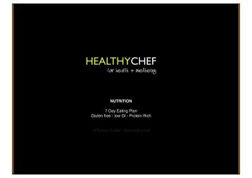 7 day healthy chef menu plan for web revised ... - The Healthy Chef