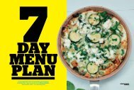 Day Menu Plan - The Healthy Chef