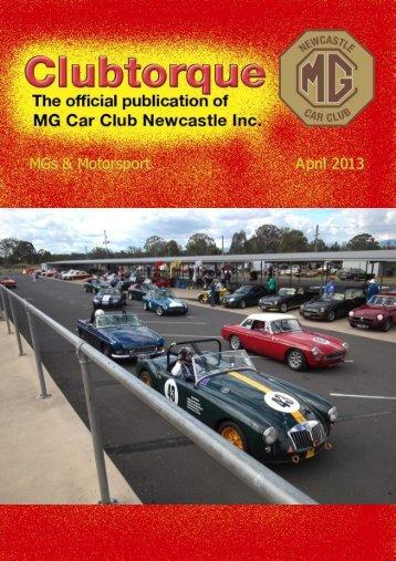 April 2013 - MG Car Club Newcastle
