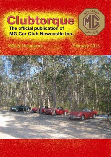 February 2013 - MG Car Club Newcastle