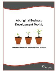 Aboriginal Business Development Toolkit PDF - Ministry of ...