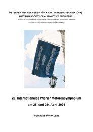 26. Internationales Wiener Motorensymposium am 28. und 29. April ...
