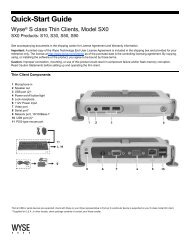 Quick-Start Guide, Wyse® S class Thin Clients, Model SX0SX0 ...