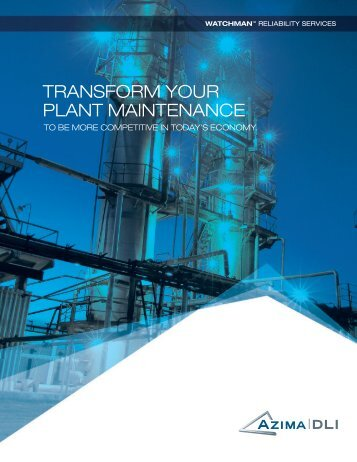 Azima-DLI - Watchman Services (Transform Your Plant Maintenance)