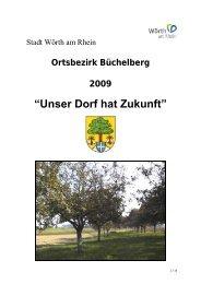 """""""Unser Dorf hat Zukunft"""" Erläuterungsbericht - Kulturkreis Büchelberg"""