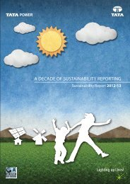A Decade of Sustainability Reporting 2012 - 13 - Tata Power