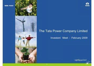 Investors' Meet - Tata Power