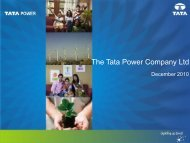 Investors' Meet - December 2010 - Tata Power