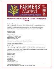 Outdoor Places to Explore in Tucson During Spring Break