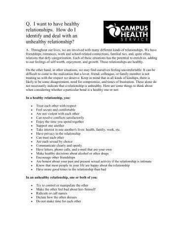 Healthy Relationships - Campus Health - University of Arizona