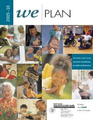 wePLAN 2010 report - Cook County Department of Public Health