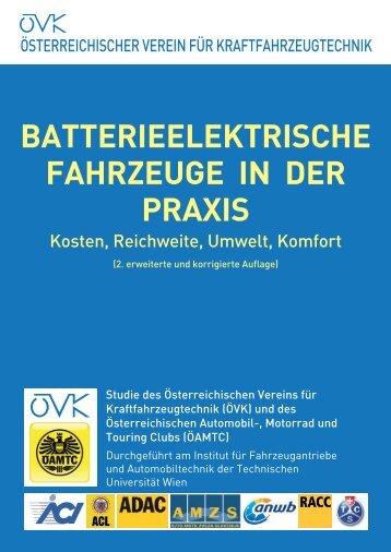 batterieelektrische fahrzeuge in der praxis - Österreichischer Verein ...