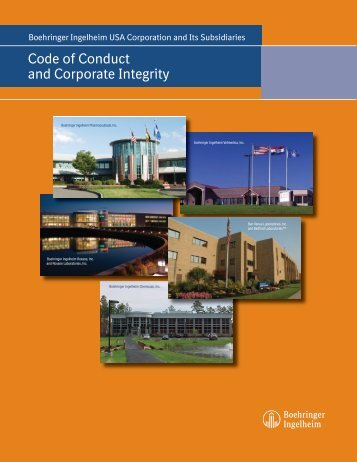 Code of Conduct and Corporate Integrity - Boehringer Ingelheim