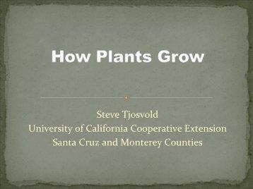 Basic Botany Presentation - Santa Cruz County - University of ...
