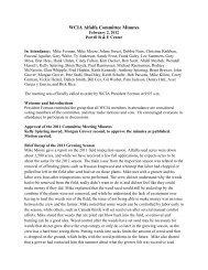 Alfalfa Committee Meeting Minutes - Wyoming Seed Certification ...