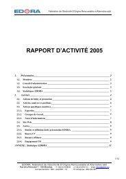 RAPPORT D'ACTIVITÉ 2005 - Edora