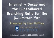 Internal γ Decay and the Superallowed Branching ... - Nuclear Physics