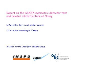 Report on the symmetric detector in Orsay
