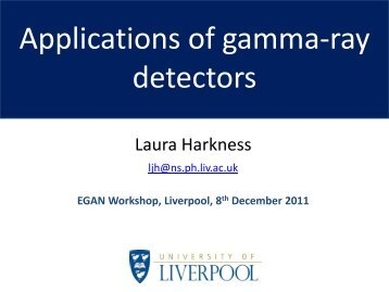 Applications of gamma-ray detectors - Nuclear Physics - University ...