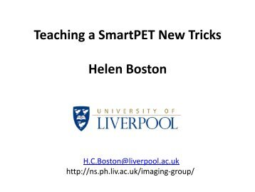 Semiconductor Detectors - Nuclear Physics - University of Liverpool