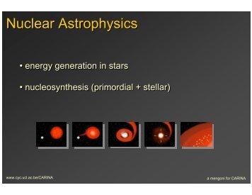 Nuclear Astrophysics - Nuclear Physics