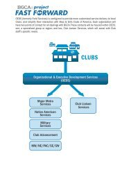 Read The Details at a Glance! - Boys & Girls Clubs of America