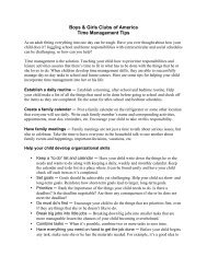 Boys & Girls Clubs of America Time Management Tips
