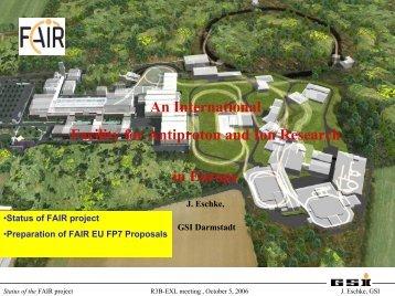 R3B-EXL Milan 2006 FAIR-Status Eschke.pdf - Nuclear Physics
