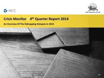 Unity's Crisis Monitor - Oct-Dec. 2014